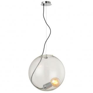 s.LUCE Sphere 40 Glaskugel mit loser Fassung Chrom, Klar // B-Ware