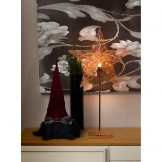 Konstsmide 2995-600 Kupferfarbener Metallstern, mit kupferfarbenem Metall-Fuß, 5 Zacken, inkl. Anschlusskabel mit an/aus Schalter, ohne Leuchtmittel, E14 Lampenhalterung für Innenbereich