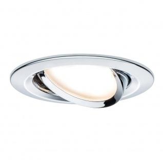 Paulmann 3er LED Einbauleuchten-Set Coin Slim rund Chrom dimm- & schwenkbar 93880