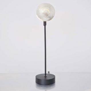 Holländer 300 K 12130 Tischleuchte Piccola Nautilo Eisen Schwarz-Silber