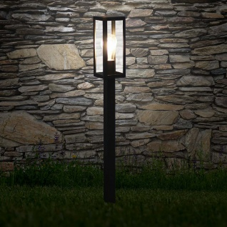 s.LUCE pro Chalet Poller Aussen-Standleuchte 80cm Schwarz Pollerlampe Stehleuchte