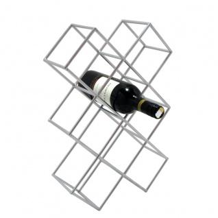 s.HOME Rak Design Weinregal Alu-Matt Flaschenregal Weinhalter Wine Rack - Vorschau 3