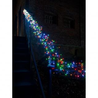 Micro LED Büschellichterkette Cluster mit 8 Funktionen 2016 bunte Dioden 24V Außentrafo