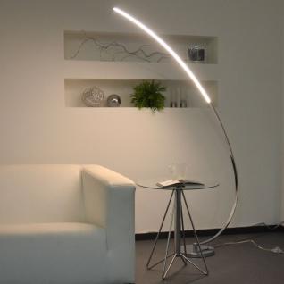 Licht-Trend LED Stehleuchte mit gebogenem Arm 170cm chrom Stehlampe