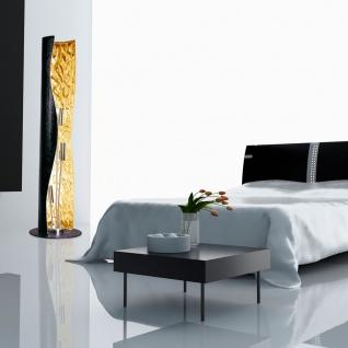 s.LUCE Blister Stehleuchte 3-flammig 130cm Schwarz Gold Design Stehlampe - Vorschau 2