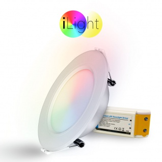 iLight LED-Einbaupanel iLight Ø12cm 600lm RGB + CCT LED-Lampe Farbwechsel & Dual White