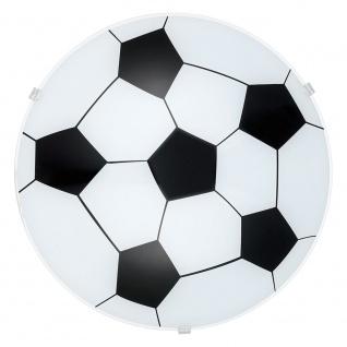 Eglo 87284 Junior 1 Wand- & Deckenleuchte Ø 24, 5cm Motiv Fussball Weiß