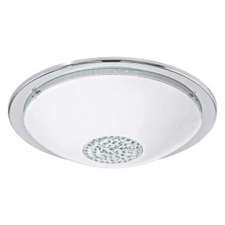 Eglo 93778 Giolina LED Deckenleuchte Ø 37cm Weiß Klar Chrom