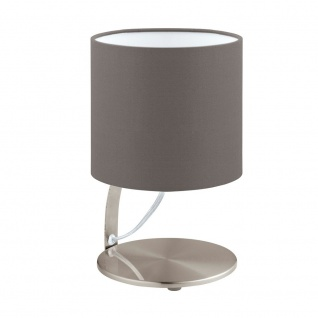 Eglo 95765 Nambia 1 LED Tischlampe Ø 15cm 480lm Nickel-Matt Cappuccino