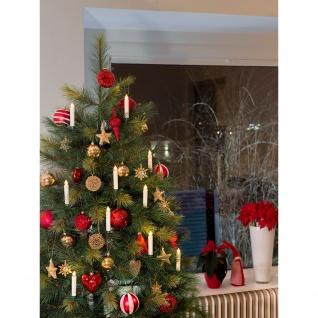 LED Baumbeleuchtung 10 kabellose weiße Kerzen Fernbedienung Warmweiß batteriebetrieben für Innen