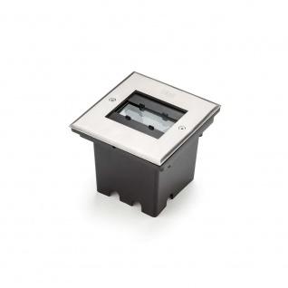 Konstsmide 7961-310 High Power LED Bodeneinbaustrahler 900lm mit verstellbarem Lichtaustritt Edelstahl