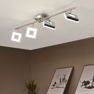 Licht-Trend Sempre Cube LED 4er-Deckenstrahler drehbar Deckenlampe Spot Chrom