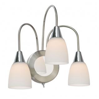 Wofi Casa LED Wandleuchte 3-flammig Nickel matt Chrom Wandlampe