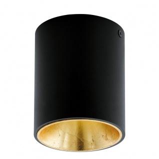 Eglo 94502 Polasso Deckenleuchte Alu Kunststoff Schwarz Gold