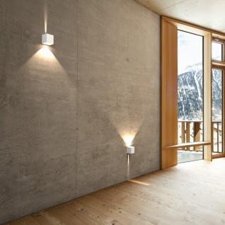 LICHT-TREND Baleno Quadi / LED Wand-Aussenleuchte Up&Down Weiss / Wandlampe - Vorschau 1