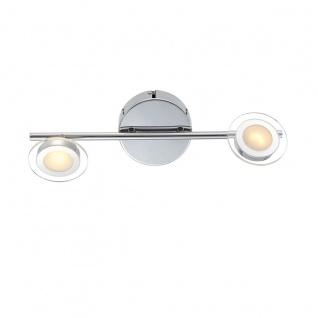 Wofi Chloe LED Deckenbalken 2-flammig Chrom Strahler Spots