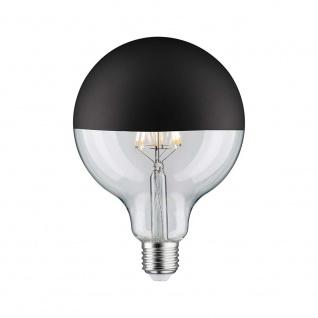 Paulmann LED Globe 125 5W E27 Kopfspiegel Schwarz matt 2700K dimmbar 28549 - Vorschau 1
