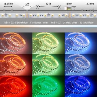 24 W/m RGB + CCT 5 in 1 LED 24V 5m LED-Strip IP20
