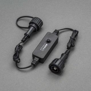 Dimmer nachrüstbar für alle Konstsmide LED Außenartikel mit Trafo bis max. 400 LEDs Außen IP44 schwarzes Soft-Kabel