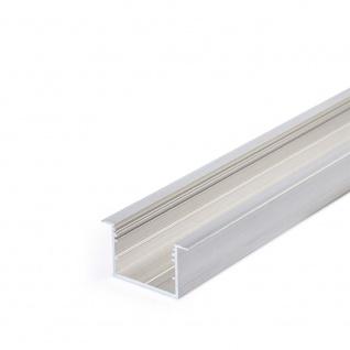XXL Einbauprofil 200cm Alu-roh ohne Abdeckung für LED-Strips