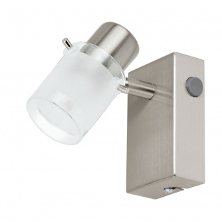 Eglo 93701 Orvieto 1 LED Spot Weiß Klar Nickel-Matt