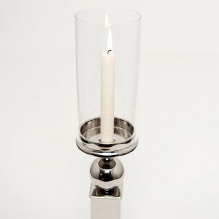 Holländer 291 3508 Windlicht Tulipano Klein Aluminium-Glas Silber-Klar - Vorschau 3