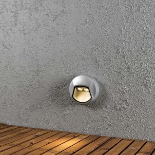 Konstsmide 7913-310 Chieri LED Wandaufbauleuchte rund Grau klares Acrylglas