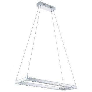 Eglo 31669 Varrazo LED Hängelampe Kristall 2000lm Chrom Klar