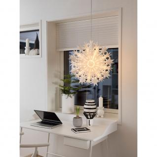 Konstsmide 2939-200 Weißer Papierstern inkl. Anschlusskabel mit an/aus Schalter ohne Leuchtmittel E14 Lampenhalterung für Innenbereich