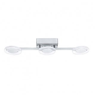 Eglo 94158 Cartama LED Deckenleuchte 3 x 45 W Stahl Chrom Kunststoff klar satiniert
