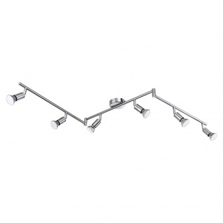 Globo 57991-6 Matrix LED Strahlersystem 6 x 170lm Nickel-Matt Deckenlampe