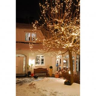 LED Minilichterkette 200 Warmweiße Dioden 24V Außentrafo