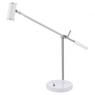 Eglo 92515 Lauria 1 LED Tischleuchte Weiß Glänzend Chrom