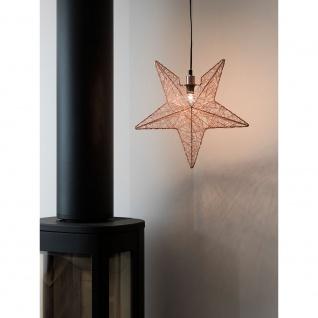 Konstsmide 3555-600 Kupferfarbener Metallstern, inkl. Anschlusskabel mit an/aus Schalter, ohne Leuchtmittel, E14 Lampenhalterung für Innenbereich