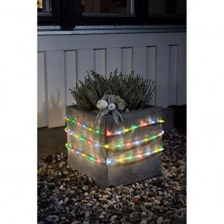 LED Lichterschlauch 6m mit Lichtsensor Timer 96 bunte Dioden batteriebetrieben für Aussen