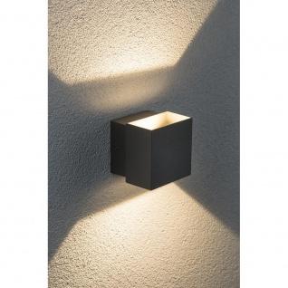Paulmann Wandaufbauleuchte LED Cybo eckig 2x3W grau 100x100mm 18002