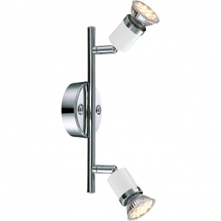 Globo 57996-2 Fina Wandleuchte Chrom Metall Weiß 2xGU10 LED