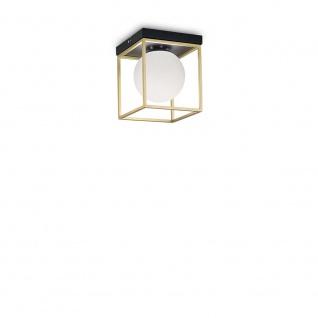 Ideal Lux Deckenleuchte Lingotto Messing, Schwarz 198132