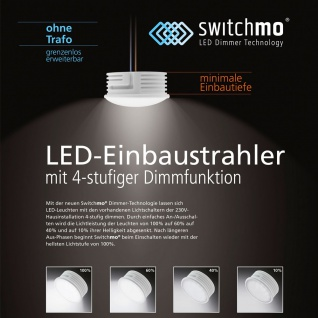 LED Switchmo dimmbares Leuchtmittel für Spots 350lm 5, 5 W Warmweiß