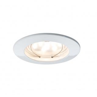 Paulmann 928.07 3er LED Einbauleuchten-Set Coin klar rund 7W Weiß dimmbar