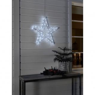 LED Acryl Stern mit 8 Funktionen 48 Kaltweiße Dioden 24V Außentrafo