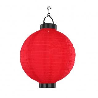 LED Lampion Hänge-Solarleuchte Ø 25cm Solar Gartenlampe Gartenleuchte - Vorschau 1