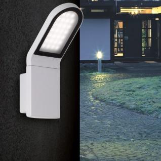 Wofi Newark LED Aussen-Wandleuchte Grau Wandlampe Aussen
