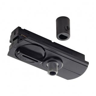 SLV 143120 1-Phasen Pendelleuchtenadapter , schwarz inkl. Zugentlastung und Gewindestück - Vorschau 1
