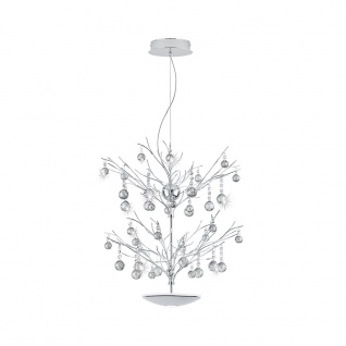Eglo 39042 Kristall LED Hängeleuchte Sorges 1800 + 650lm Chrom Klar