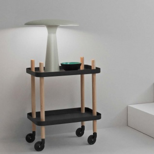 Normann Copenhagen Design Tischleuchte Shelter Ø 41cm Kalkstein Tischlampe Scandi