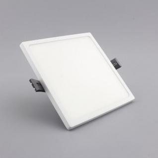 Einbau LED-Panel Ultra mit Mini-Rahmen 1440lm, 14x14cm, warm