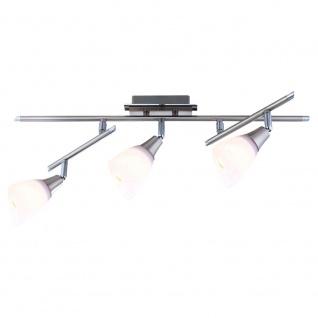 Globo 5450-3 Frank System Nickel-Matt Chrom Glas opal-satiniert 3x40W E14