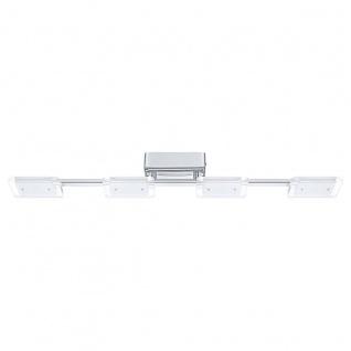 Eglo 94156 Cartama LED Deckenleuchte 4 x 45 W Stahl Chrom Kunststoff klar satiniert