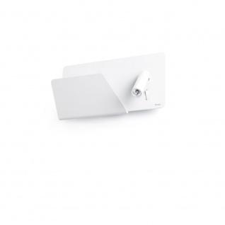 USB Wandleuchte SUAU mit linken LED-Lesespot Weiß